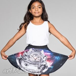 ręcznie robione ubranka spódnica dla dzieci z kotem astronautą