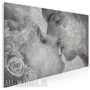 obraz na płótnie - pocałunek beton 120x80 cm 52601, pocałunek, miłość