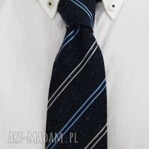 Krawat regular #30, krawat, jedwab, niebieski, dodatki
