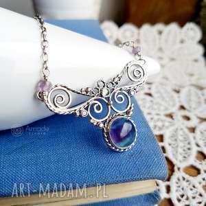 oryginalny prezent, amade studio fairy wings - fluoryt, ażurowy, orientalny