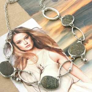 naszyjniki naszyjnik kolia otoczaki i koła, kolia, kamienie