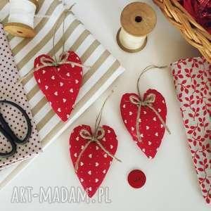 zawieszki serduszka - ,serduszka,bombki,vintage,zawieszki,świąteczne,