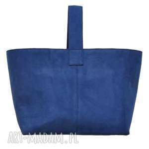 13-0004 Niebieska torebka damska do ręki shopper bag / na zakupy TOUCAN