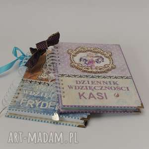 Dziennik wdzięczności scrapbooking notesy qachna notes