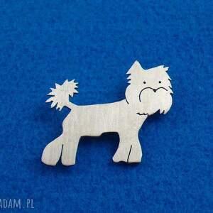 broszka yorkshire pies nr 1 - broszka, york, pies, prezent, urodziny, rękodzieło