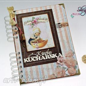 przepiśnik - różana kuchnia, książka, kucharska, przepiśnik, babeczka, notatnik