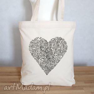 967c623b63e3a eko torba na zakupy serce - Na zakupy