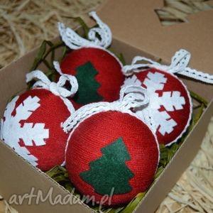 na święta prezenty Bombki choinkowe-Boże Narodzenie 8cm Komplet 4szt., bombki