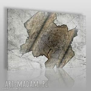obraz na płótnie - beton abstrakcja 120x80 cm 20201 , beton, stary, dziura