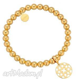 Złota bransoletka z orientalną rozetką, bransoletka, złota, kóle, rozetka, delikatna