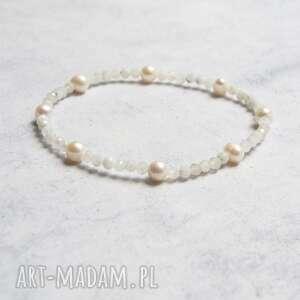 na nogę - kamień księżycowy perły, kostkę, amulet