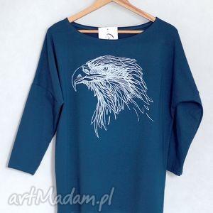 ORZEŁ bluzka bawełniana oversize L/XL navy blue, koszulka, bluza,