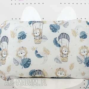 ręcznie robione pokoik dziecka płaska poduszka do łóżeczka lwie