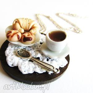 anibyleco naszyjnik deser, naszyjnik, modelina, masa, fimo, porcelana, ceramika