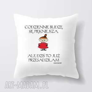 hand-made poduszki licencjonowana poduszka muminki codziennie budzę się piękniejsza