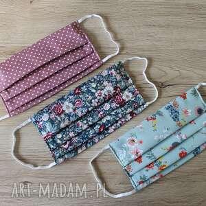 maseczki zestaw maseczek bawełnianych - 3 sztuki, maska, maseczka