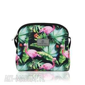torebki mini simple color 1182 flamingi 2, flamingi, mała, letnia, pojemna