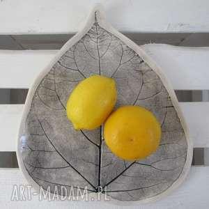 dekoracyjny talerz liść, patera, roślinna, ceramiczny, talerzyk, listek