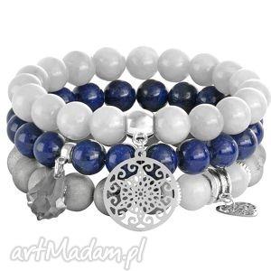 autorskie bransoletki arctic 3 - navy blue & grey