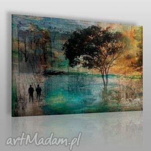 obraz na płótnie - drzewo romantyczny - 120x80 cm 11701 - drzewo, para