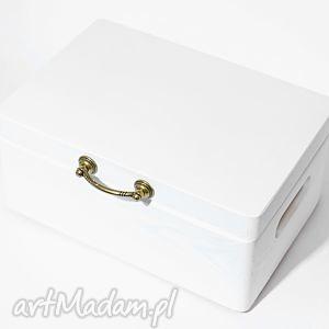 Ślubne pudełko na koperty kopertówka białe klasyczne vintage