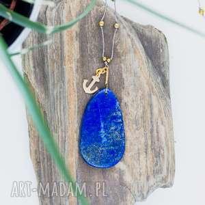 WHW Raw Lapis Lazuli #1, duży, lapis, lazuli, długi, surowy, zawieszka