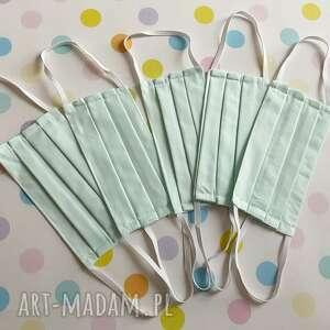 maseczki dla dorosłych zestaw 5 sztuk - mięta, maseczki, maski, bawełniane