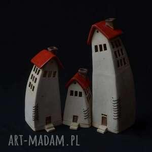 czerwone dachy - domki ceramiczne na tea-lighty, kadzidełka, lampiony, kadzidełka
