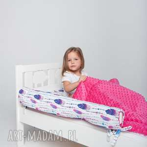 Ochraniacz do łóżeczka/łóżka IKEA - pióra, ochraniacz, ikea, pościel, minky