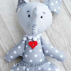 maskotki słonik maskotka przytulanka w kropki, słoń, maskotka