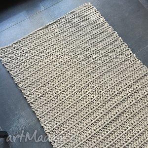 Dywan, chodnik ze sznurka bawełnianego beżowy 60x120 cm