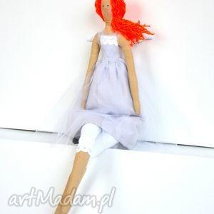rudowłosy anioł typu tilda, lalka, anioł, dekoracja, prezent lalki dla dziecka