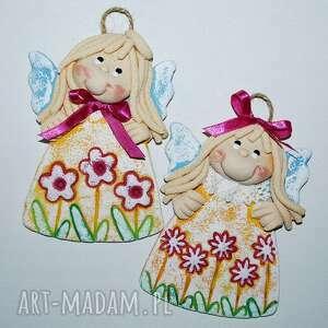 zosia i tosia - dwa anioły, aniołek, masa solna, prezent, na ścianę, dla gości
