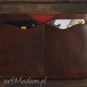 ręcznie wykonane etui na dokumenty (brązowy)