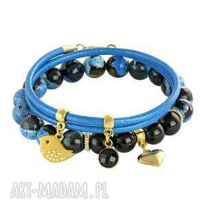 handmade bransoletki sada 2 - blue & black