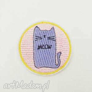naszywka meow - ,naszywka,haft,haftowana,pastelowa,kot,meow,