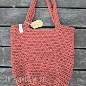 torba shopperka w kolorze ceglanym, na ramię, shopper bag, skandynawski