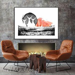 Ocean Traw... art print a4, obraz, grafika, krajobraz, kolaż, format-a4,