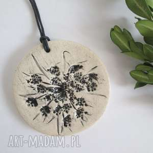 pod choinkę prezenty, roślinny wisior, wisiorek, ceramiczny, naturalny, ekologiczny