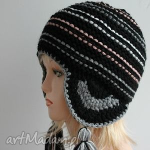czapka peruwianka , nauszniki, ciepła, chwosty, zimowa, peruwianka, czapka