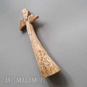 anioł wytworny, anioł, ceramika, dekoracja, wnętrze, prezent, oryginalny, święta