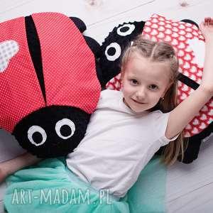 maskotki poduszka dziecięca biedronka 2 wzory, poduszka, biedronka, minky
