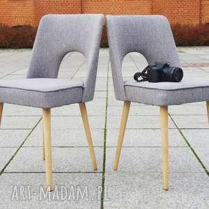 dom krzesło muszelka kolor szary