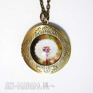 Sekretnik, medalion, naszyjnik - dmuchawiec otwierany naszyjniki