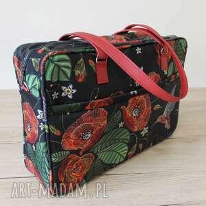 Pomysł na święta prezent: Torba miejska - maki na ramię torebki