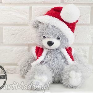 handmade świąteczny prezent miś mikołajek
