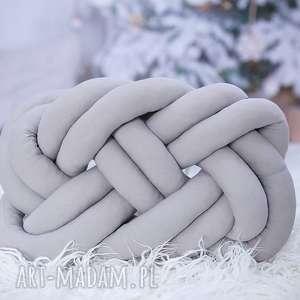 ręcznie pleciona dekoracyjna poduszka supeł precel knotpillow 50x40