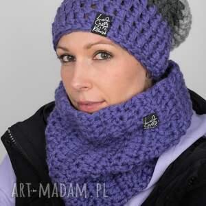 czapka triquence 29 - fioletowa, czapa, na zimę, snowboard