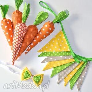Zestaw girlanda i muszka - Wielkanoc, wielkanoc, sesje, props, rekwizyt, marchewka