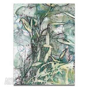 obraz na płótnie puls życia 60x90, liście, z liśćmi, fajne, liscie, nowoczesne